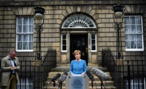 Nicola Sturgeon, Scotland's first minister, spoke on Friday about a possible independence vote.  Credit Oli Scarff/Agence France-Presse